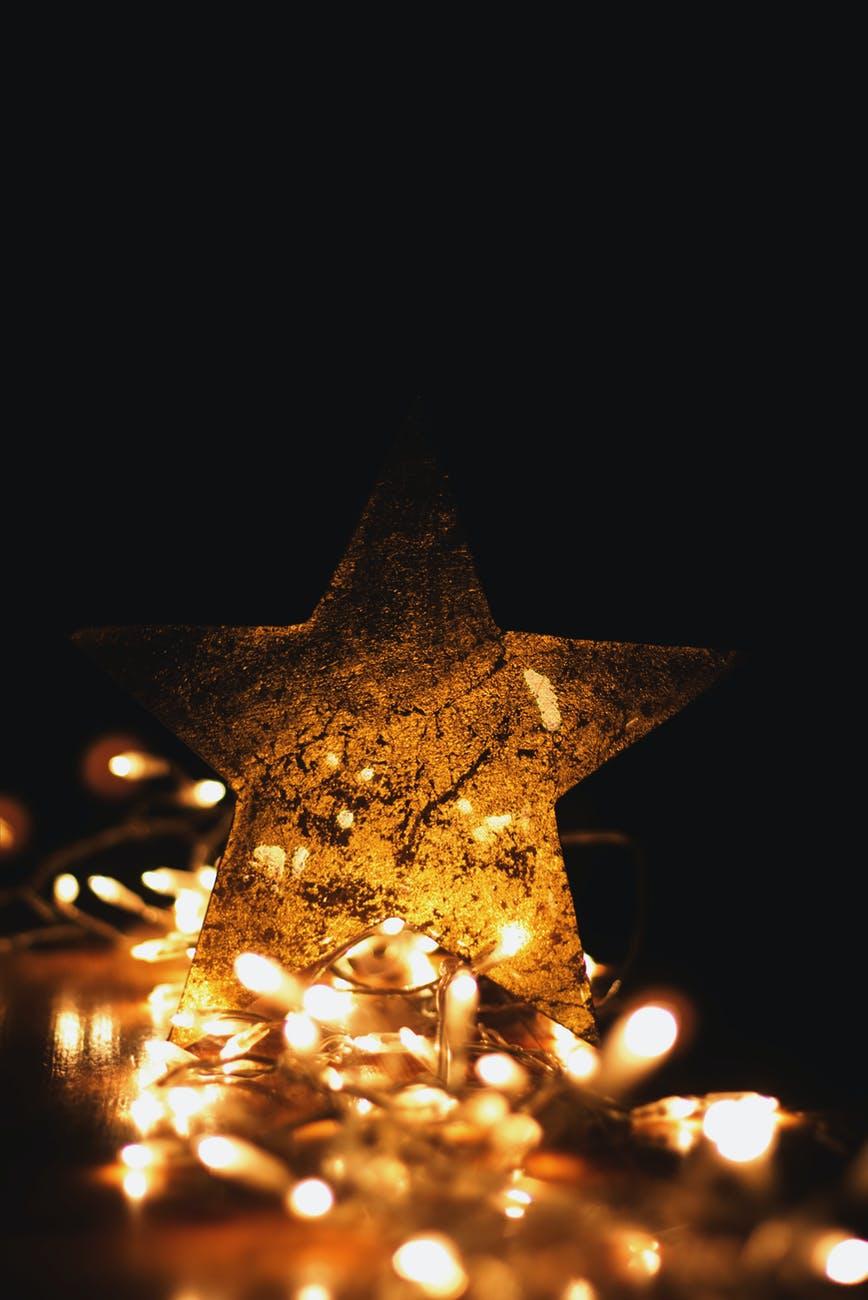 kerstster lichtjes